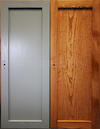 Grey and Stained Shaker Doors