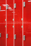 Red Glass Doors