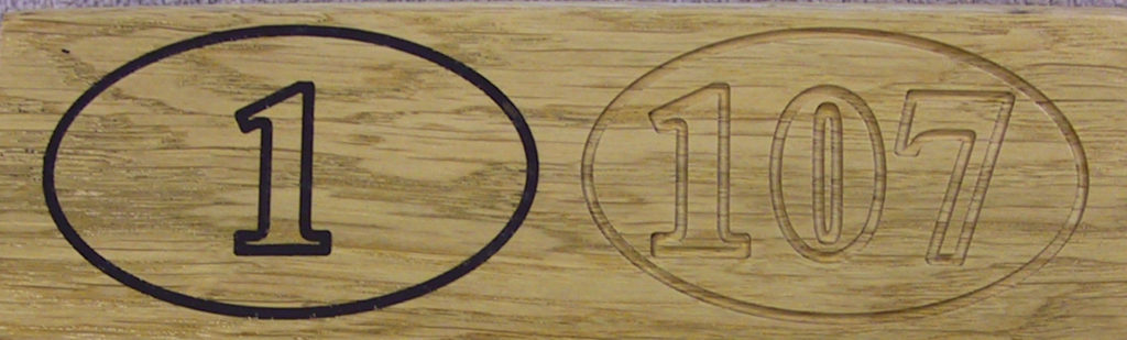 Wooden Door Numbers